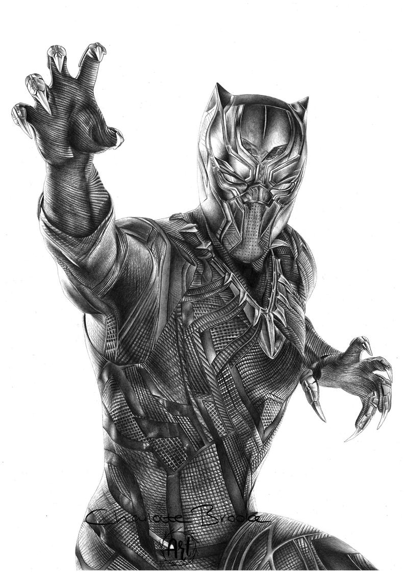 drawing of a black panther black panther pencil portrait drawing print etsy black of a panther drawing
