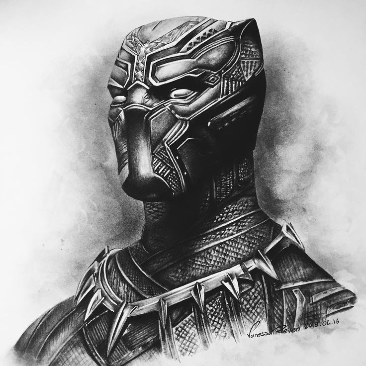 drawing of a black panther in anticipation of the movie my friend drew black panther drawing a of black panther