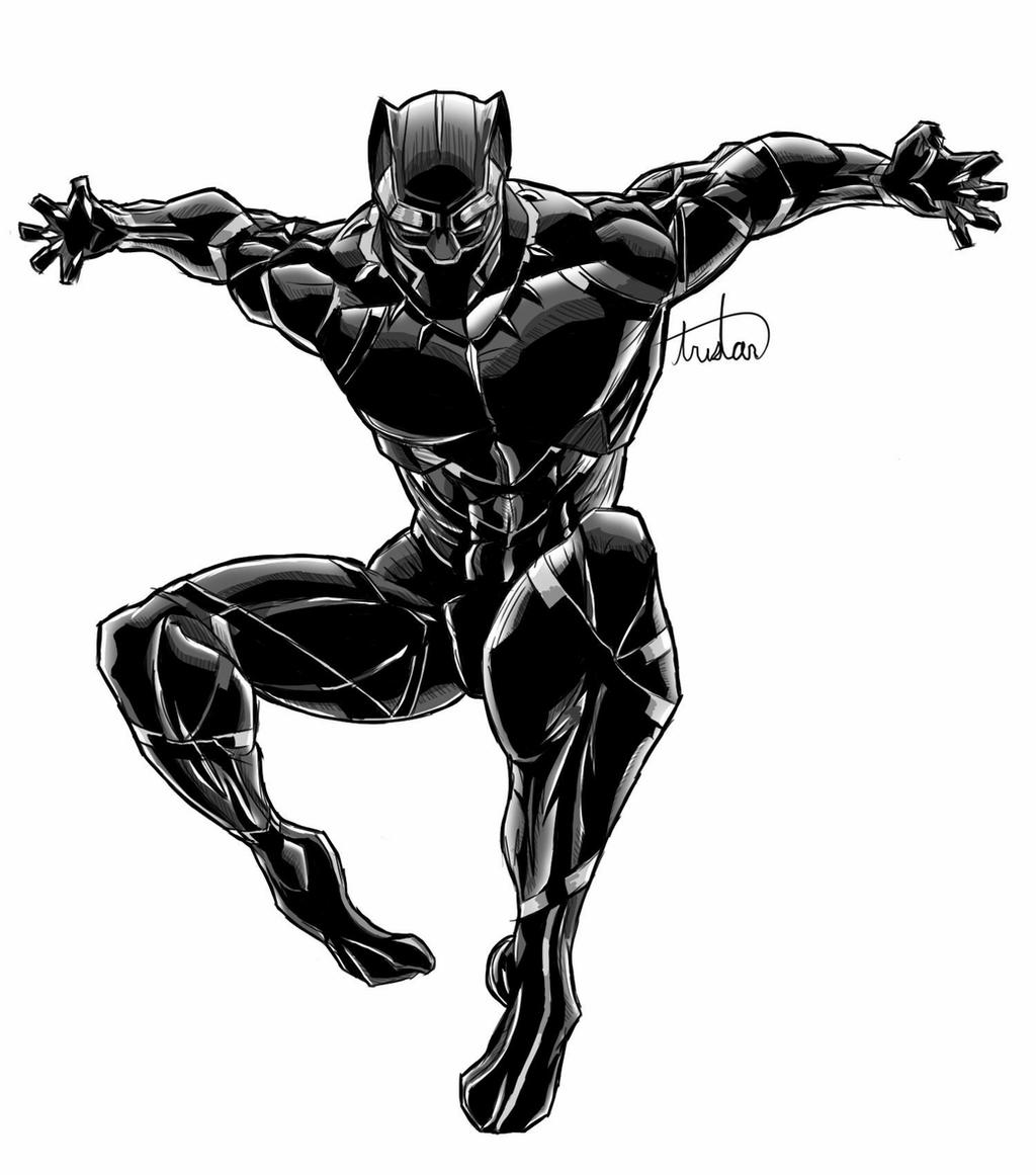 drawing of a black panther marvel black panther digital drawing by laduski on deviantart drawing a of black panther