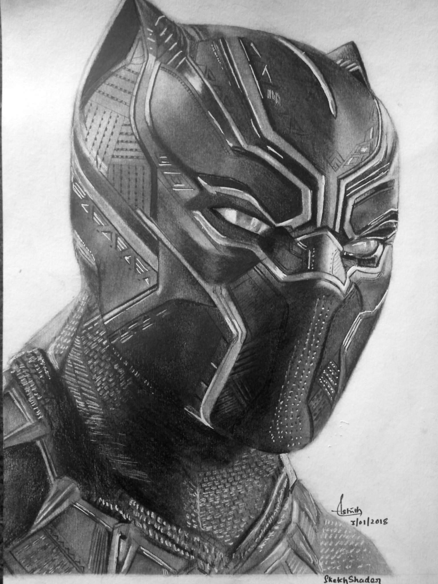 drawing of a black panther pencil drawing of black panther arts and ocs amino a panther of black drawing