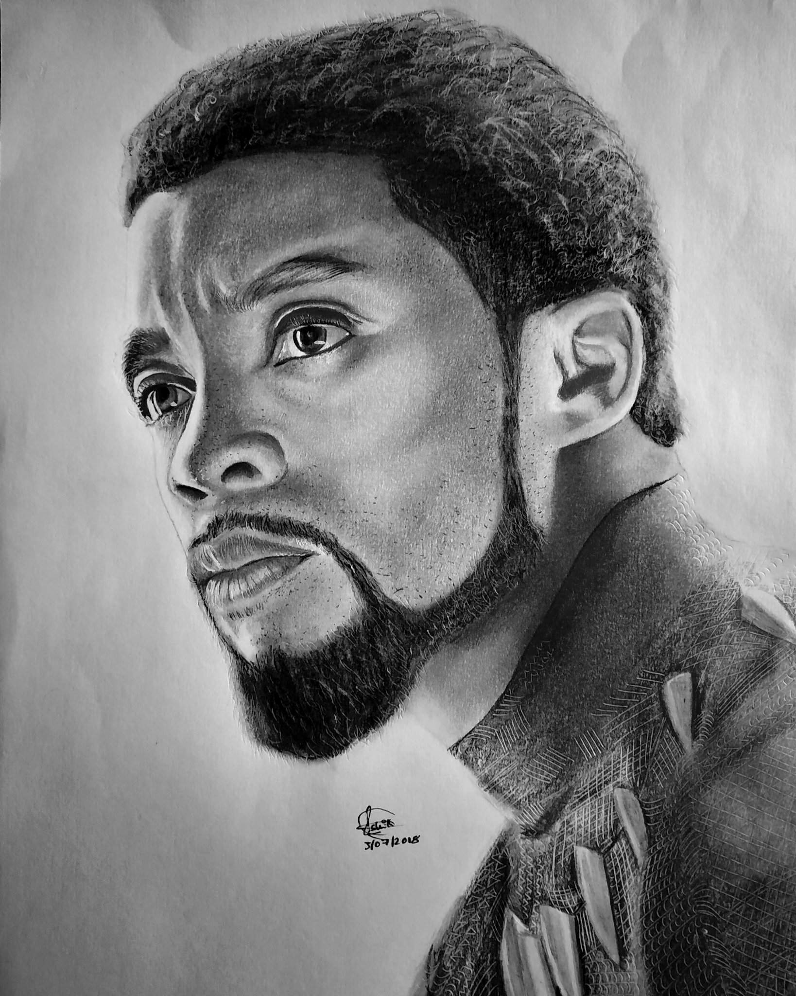 drawing of a black panther pencil drawing of black panther chadwick boseman arts black panther a of drawing