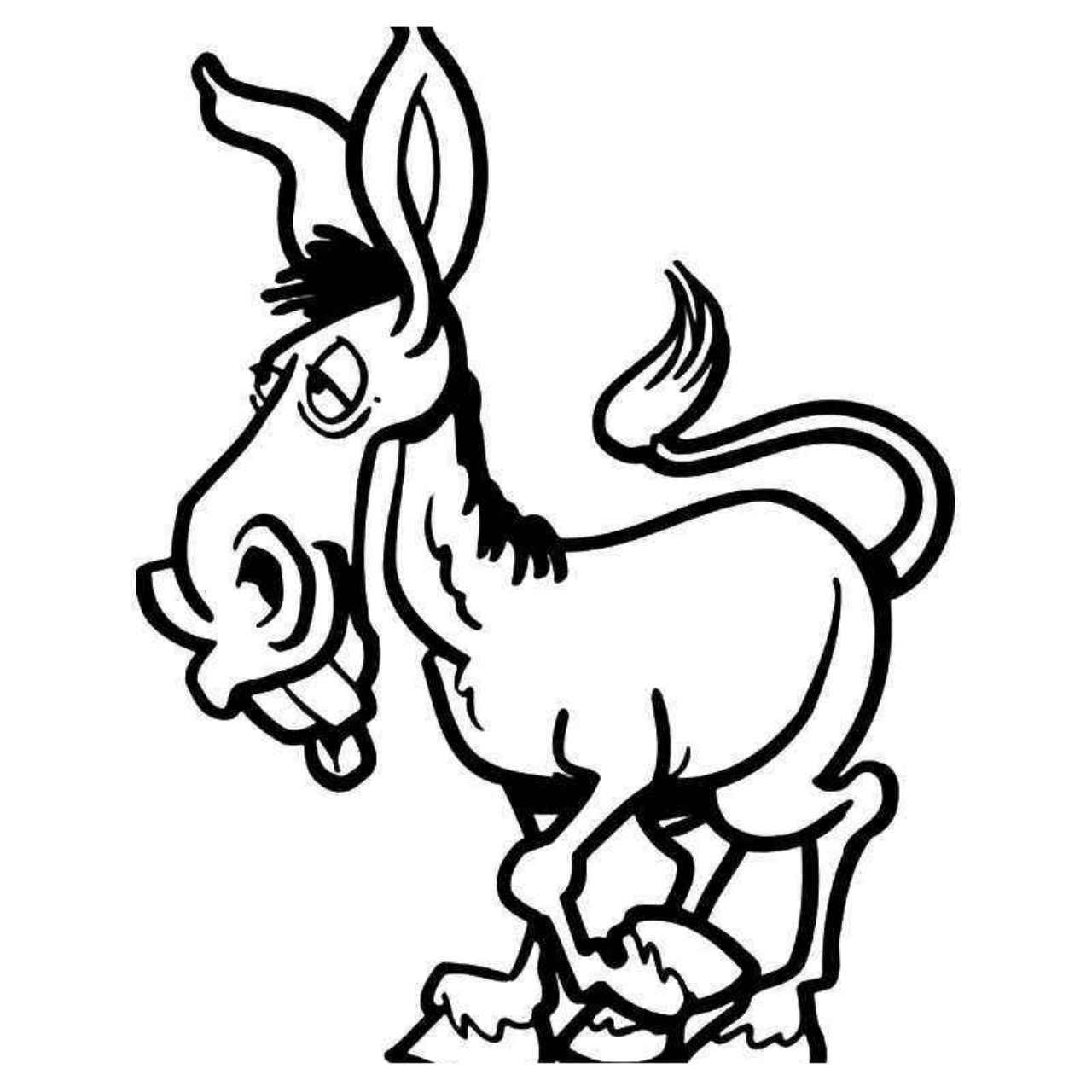 drawing of a donkey donkey cartoon drawing in 4 steps with photoshop cartoon donkey of drawing a