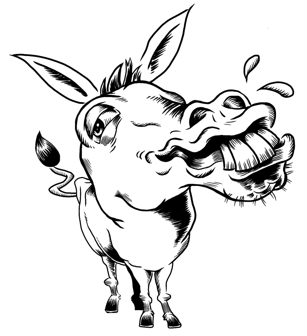 drawing of a donkey donkey cartoon drawing in 4 steps with photoshop of drawing donkey a