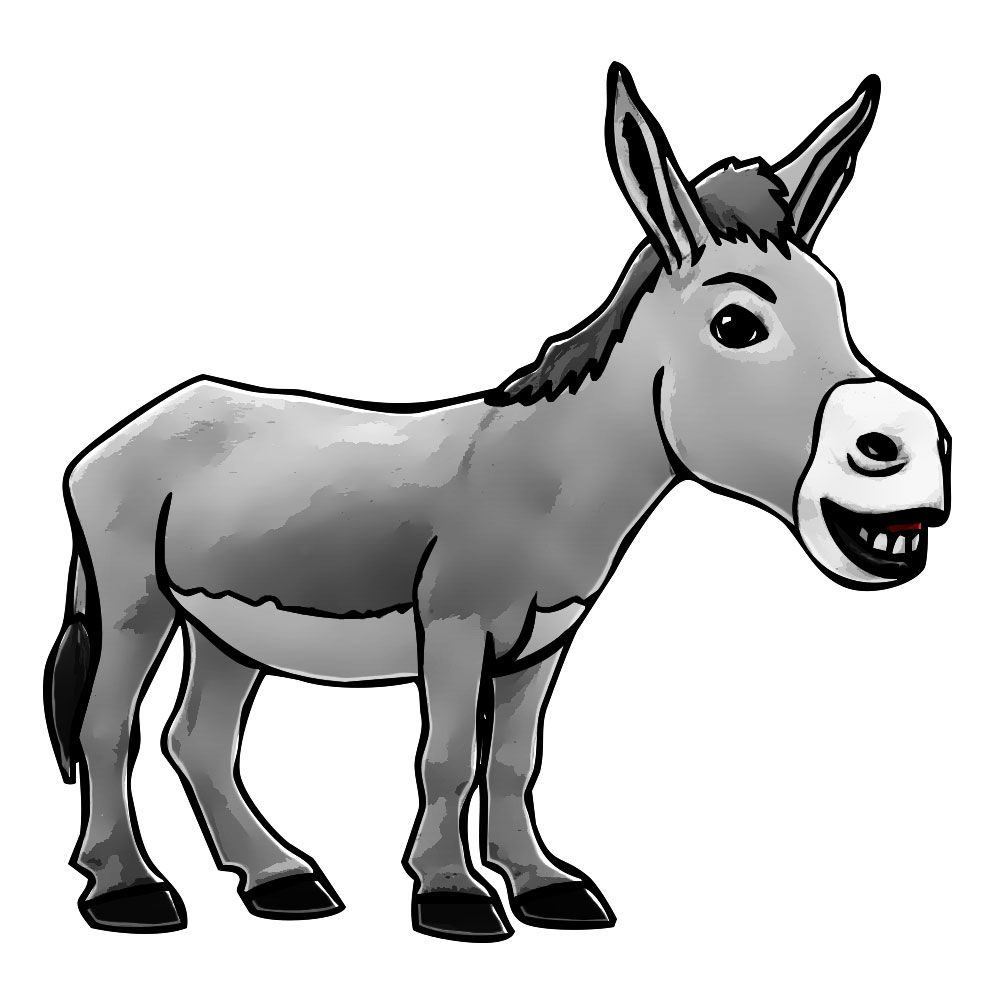 drawing of a donkey donkey drawing outline at getdrawings free download a donkey drawing of
