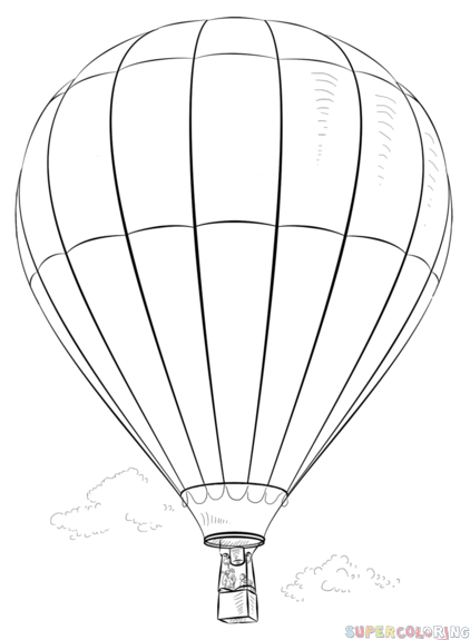 drawing of a hot air balloon hot air balloon line drawing free download on clipartmag drawing of a hot air balloon