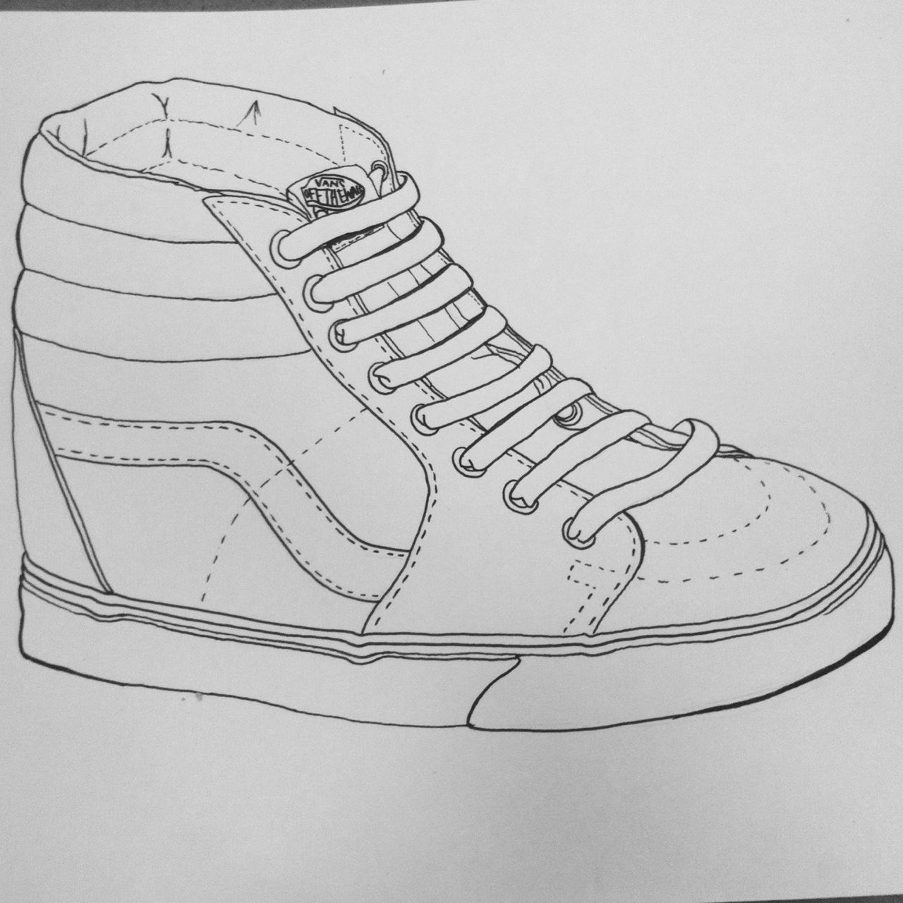 drawing of shoes image tennis shoe sketch at paintingvalleycom explore drawing of shoes image