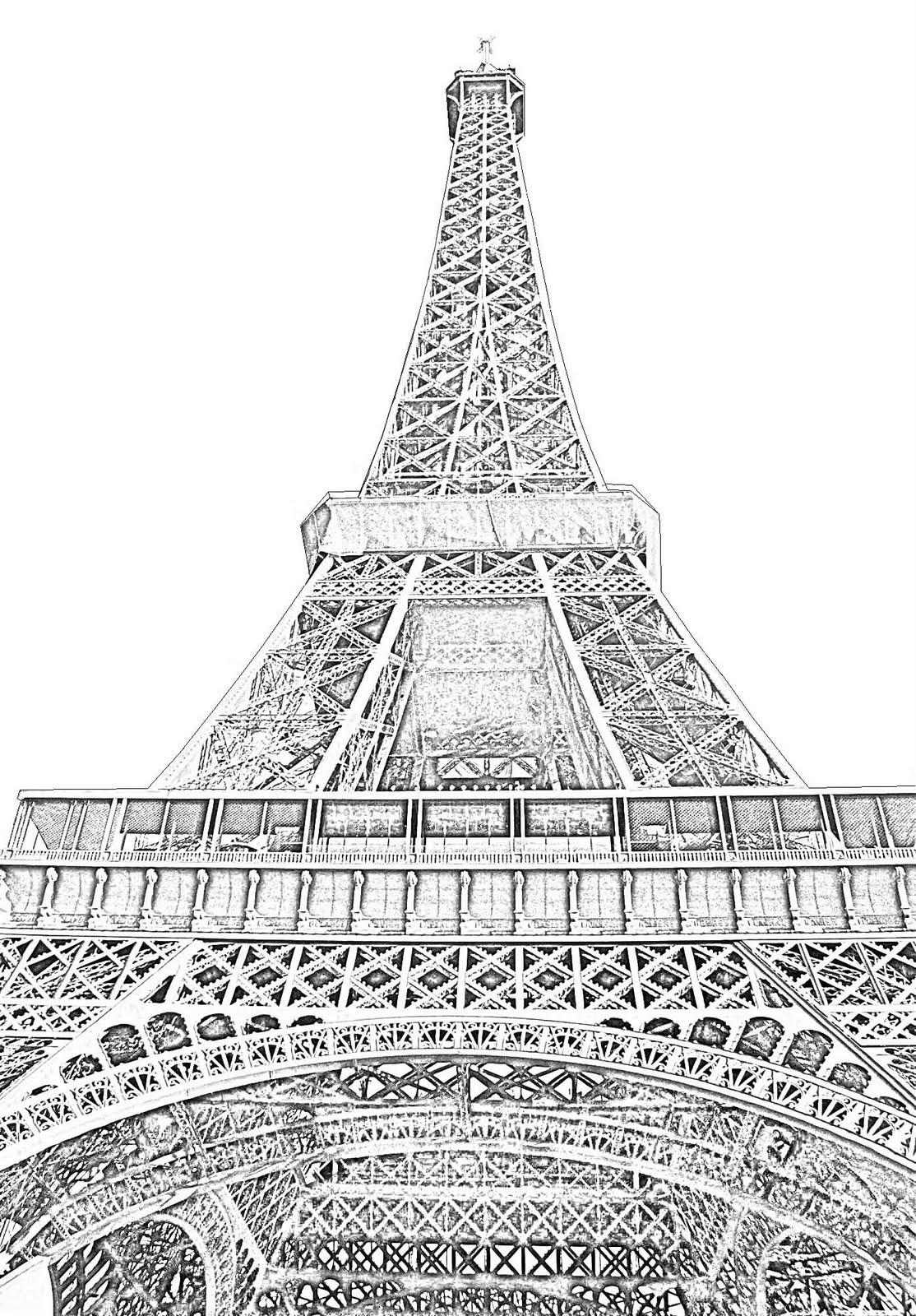 drawing of the eiffel tower 42 so beautiful eiffel tower drawing and sketches to try tower the of drawing eiffel