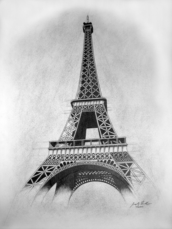 drawing of the eiffel tower eiffel tower drawing by aaron geraud eiffel of drawing the tower