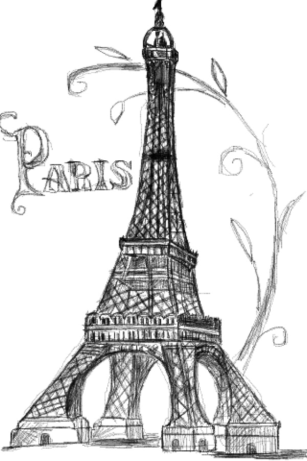 drawing of the eiffel tower eiffel tower drawing outline at getdrawings free download the of eiffel tower drawing