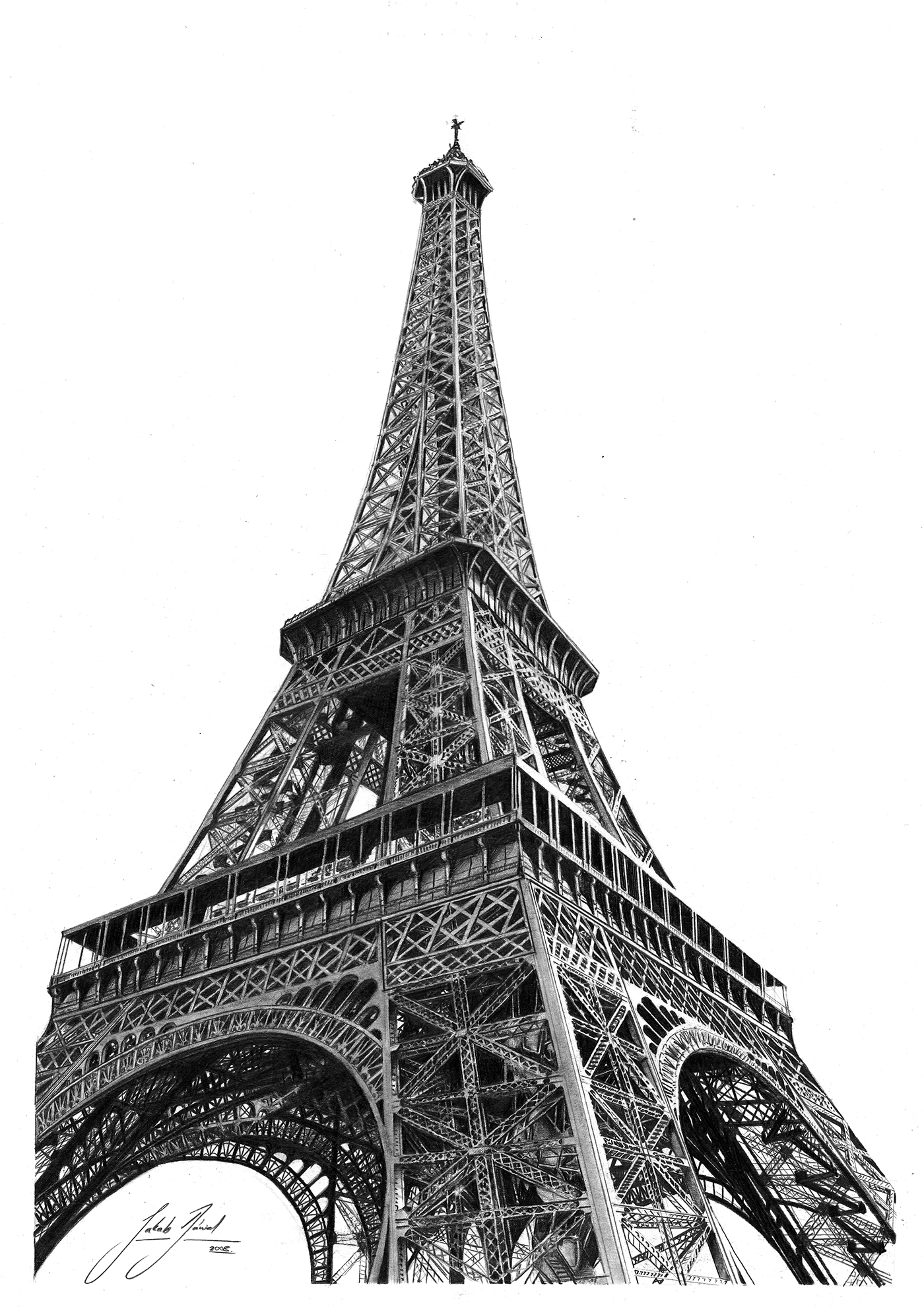 drawing of the eiffel tower learn to draw a cool easy eiffel tower drawing sketch in tower the eiffel drawing of