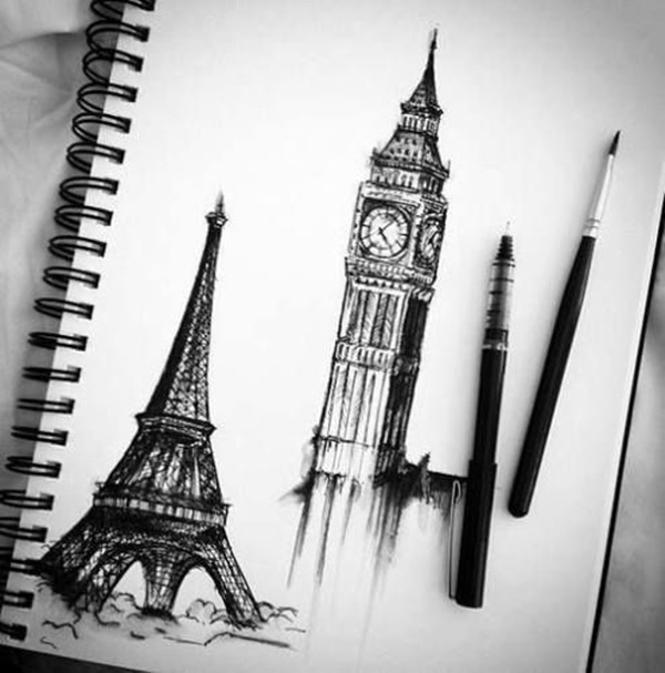 drawing of the eiffel tower stock pictures eiffel tower sketches and silhouettes eiffel tower drawing of the