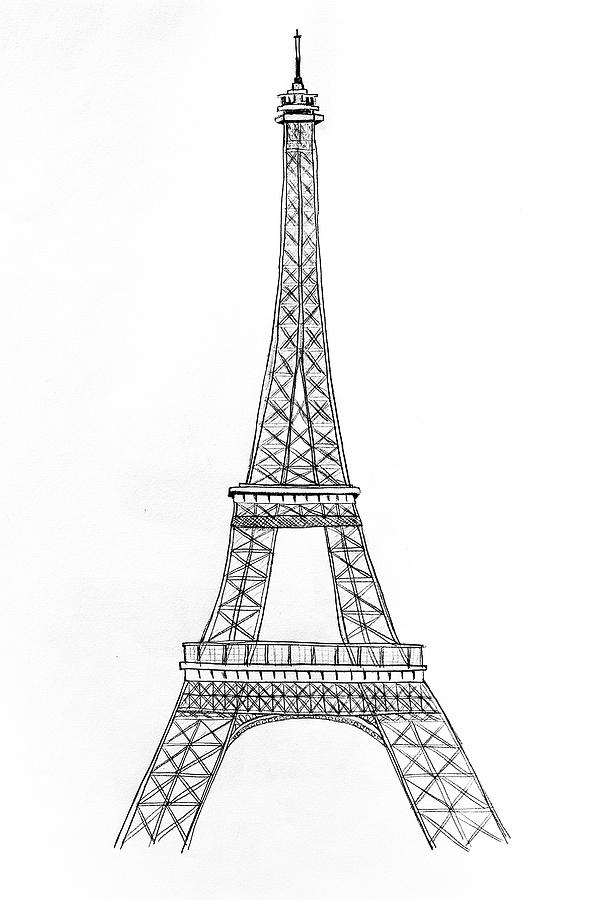 drawing of the eiffel tower the happy booker vive la reb the eiffel of drawing tower