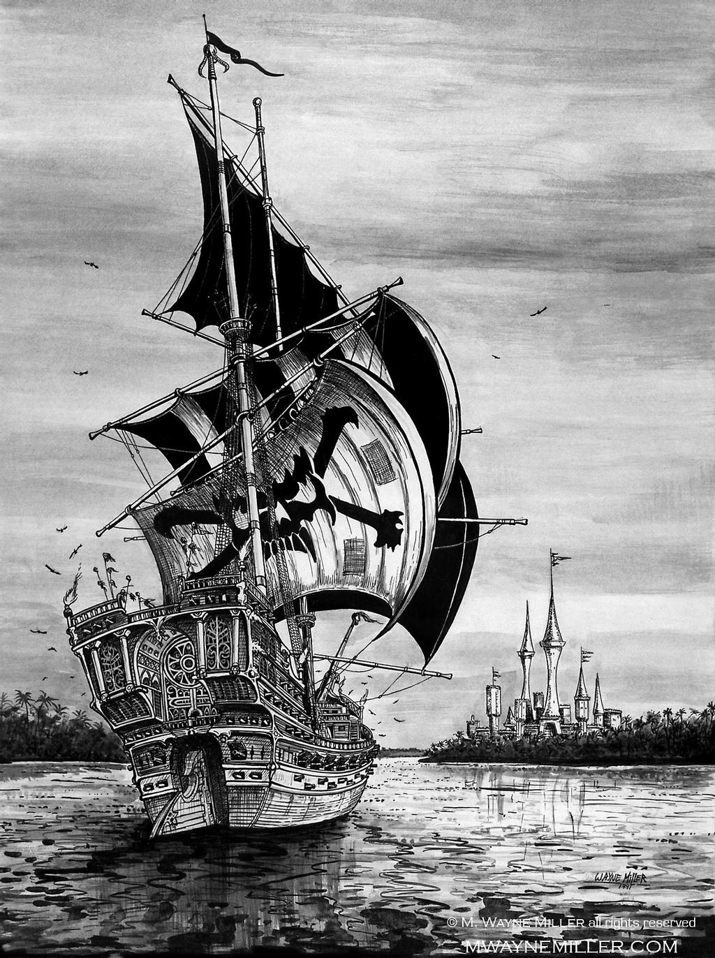 drawing pirate ship how to draw a pirate ship step by step boats ship pirate drawing