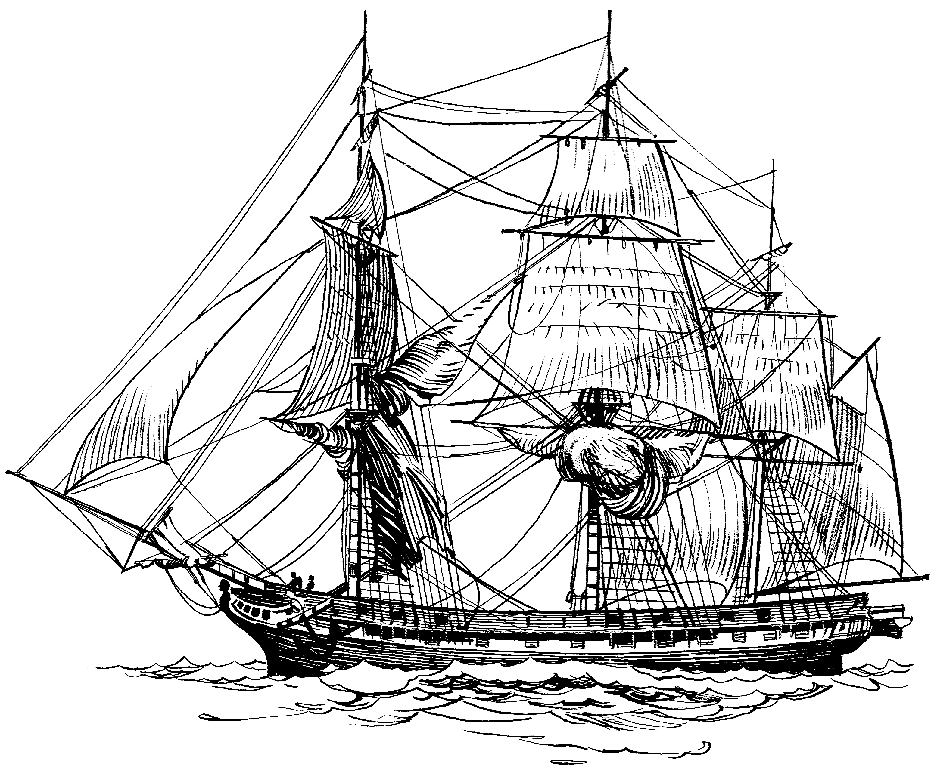 drawing pirate ship old ship line drawing frigate 001 png ship drawing ship drawing pirate