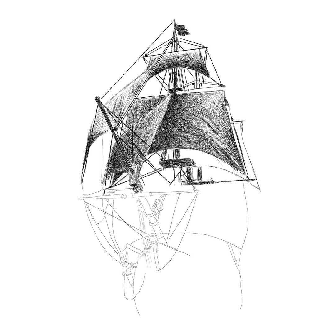 drawing pirate ship pirate ship line drawing at paintingvalleycom explore pirate drawing ship