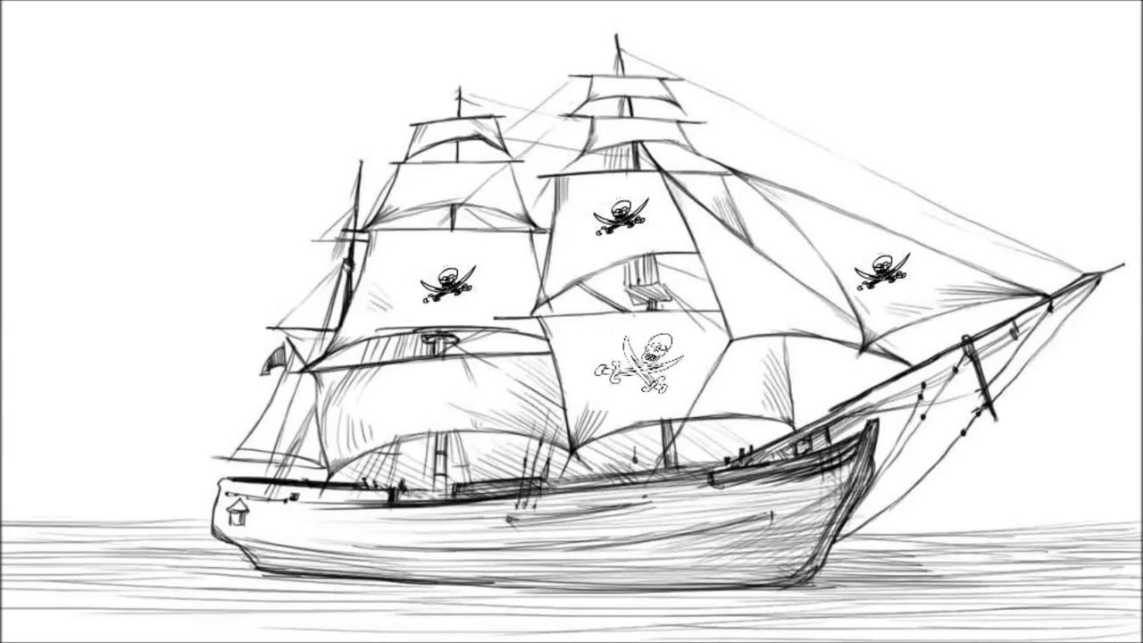 drawing pirate ship pirate ship sketch at paintingvalleycom explore pirate ship drawing