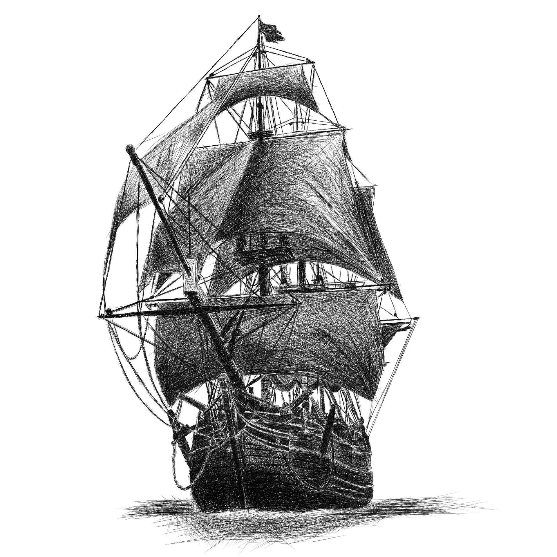 drawing pirate ship ship line drawing at paintingvalleycom explore drawing ship pirate