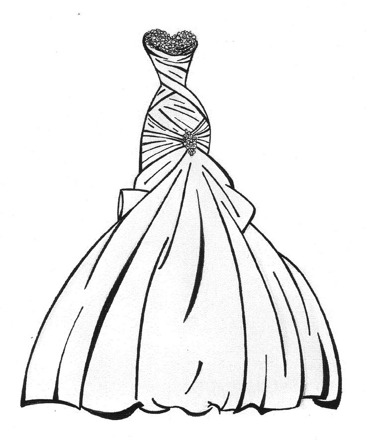 dress coloring pictures dress coloring pages getcoloringpagescom coloring pictures dress
