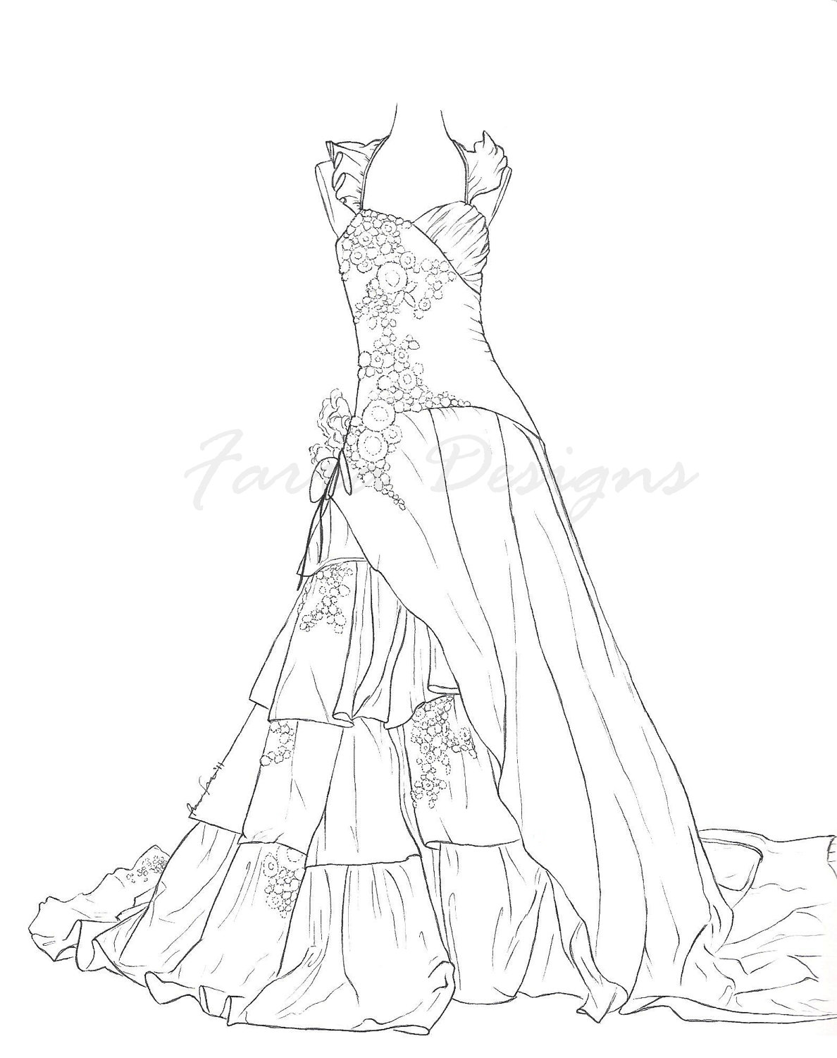 dress coloring pictures free printable coloring pages for girls art hearty dress pictures coloring