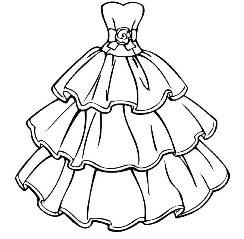 dress coloring pictures wedding dress coloring pages wedding coloring pages dress pictures coloring