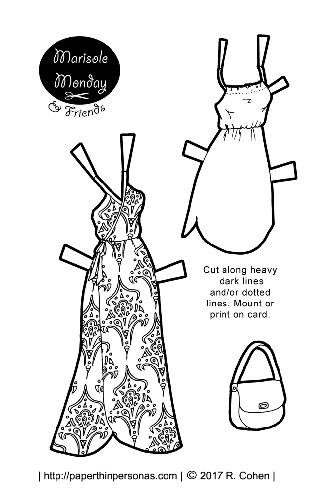 dress up paper doll paper doll sundresses to print and play with for marisole dress doll paper up