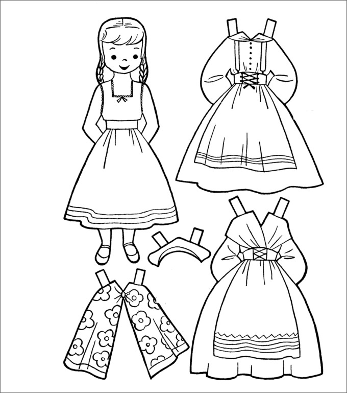 dress up paper doll paper doll template best coloring pages for kids up doll paper dress