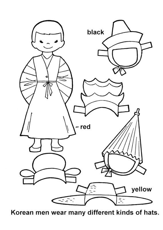 dress up paper doll today39s photo paper dolls korean crafts coloring pages doll dress paper up