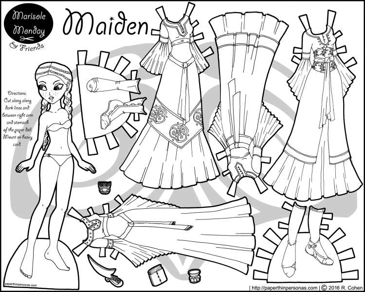 dress up paper dolls maiden a printable princess paper doll paper dolls up paper dolls dress