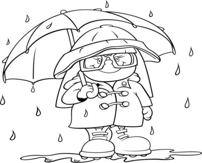 duck with umbrella coloring page herbstwetter duck page umbrella with coloring