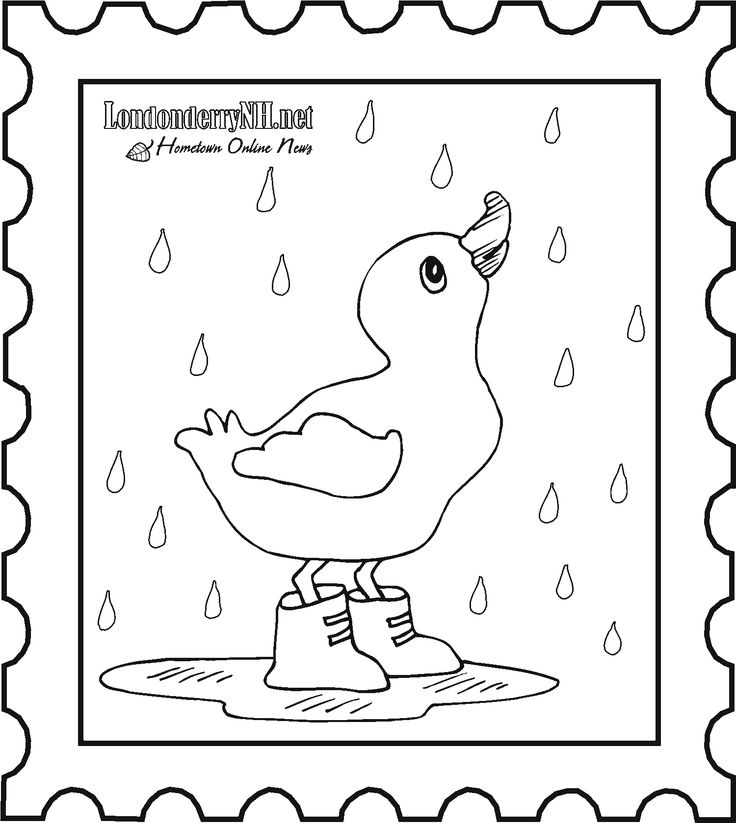 duck with umbrella coloring page pin on kindergarten with page duck umbrella coloring