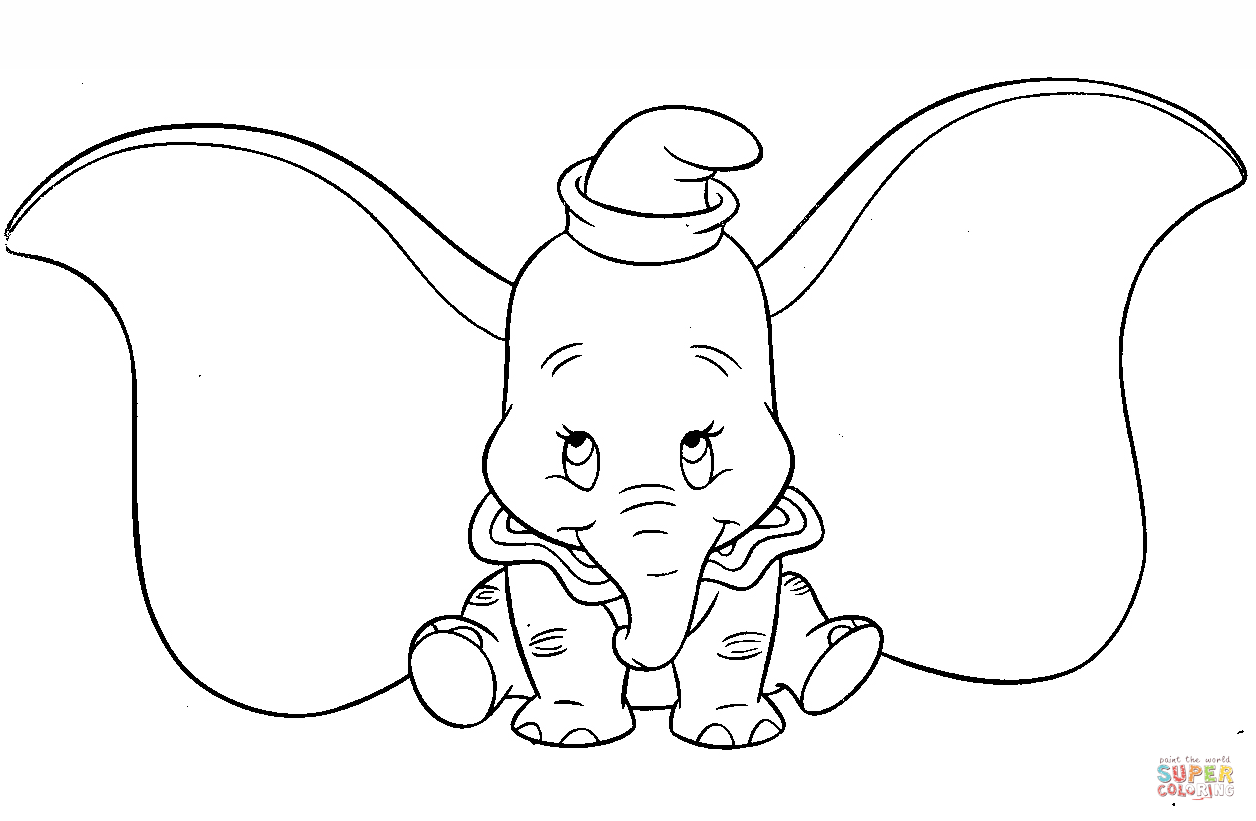 dumbo coloring pages dumbo coloring pages coloring dumbo pages