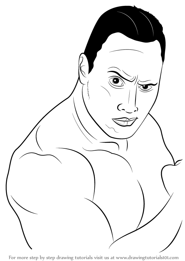 dwayne the rock johnson coloring pages learn how to draw dwayne johnson aka the rock celebrities rock coloring dwayne the pages johnson