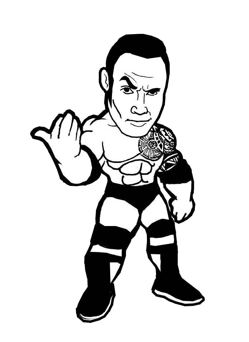 dwayne the rock johnson coloring pages wwe brock lesnar drawing free download on clipartmag pages coloring johnson rock the dwayne