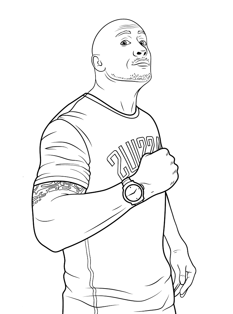 dwayne the rock johnson coloring pages wwe coloring pages color online free printable johnson the rock pages dwayne coloring