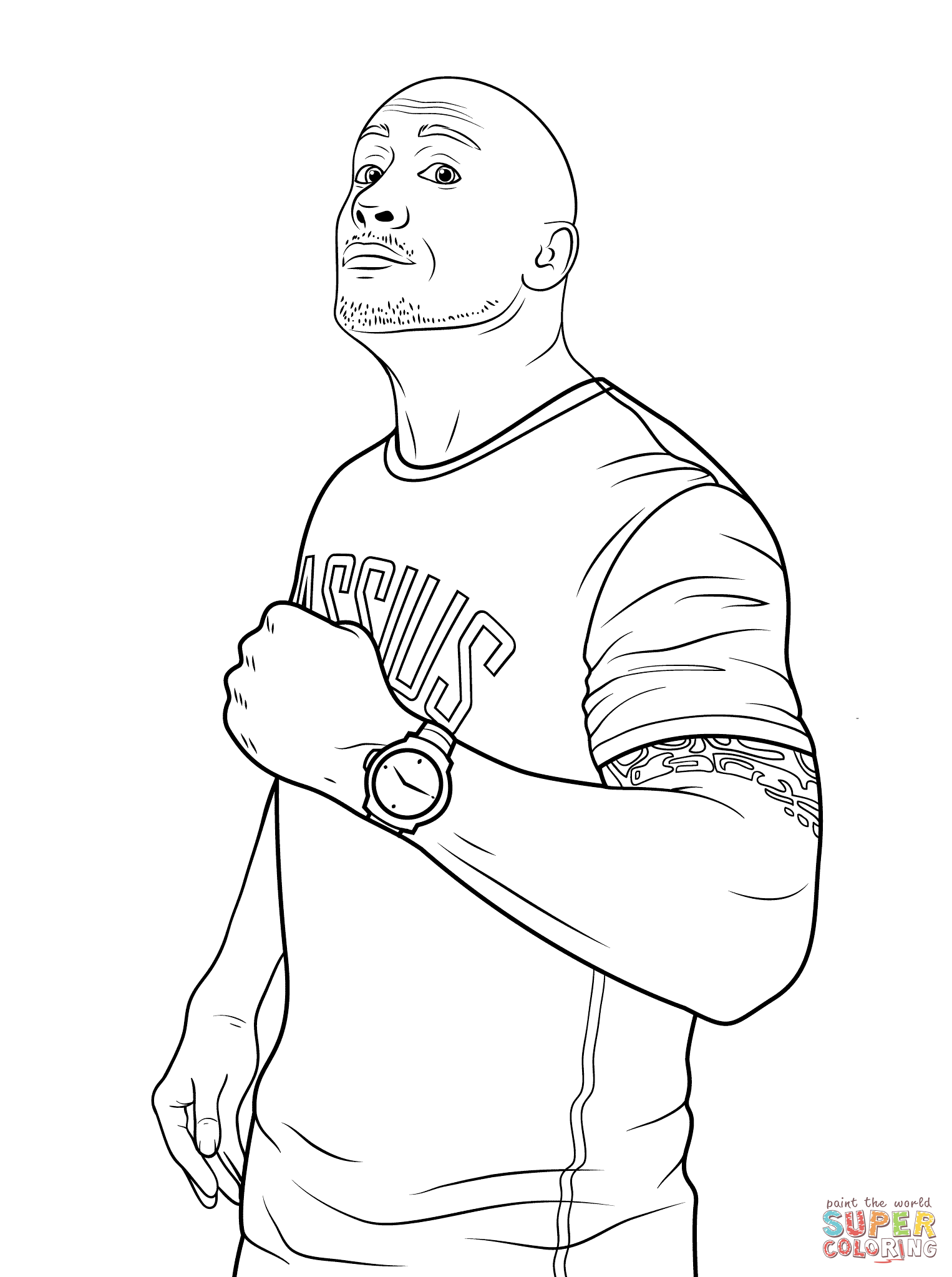 dwayne the rock johnson coloring pages wwe coloring pages printable at getdrawings free download johnson dwayne the rock coloring pages