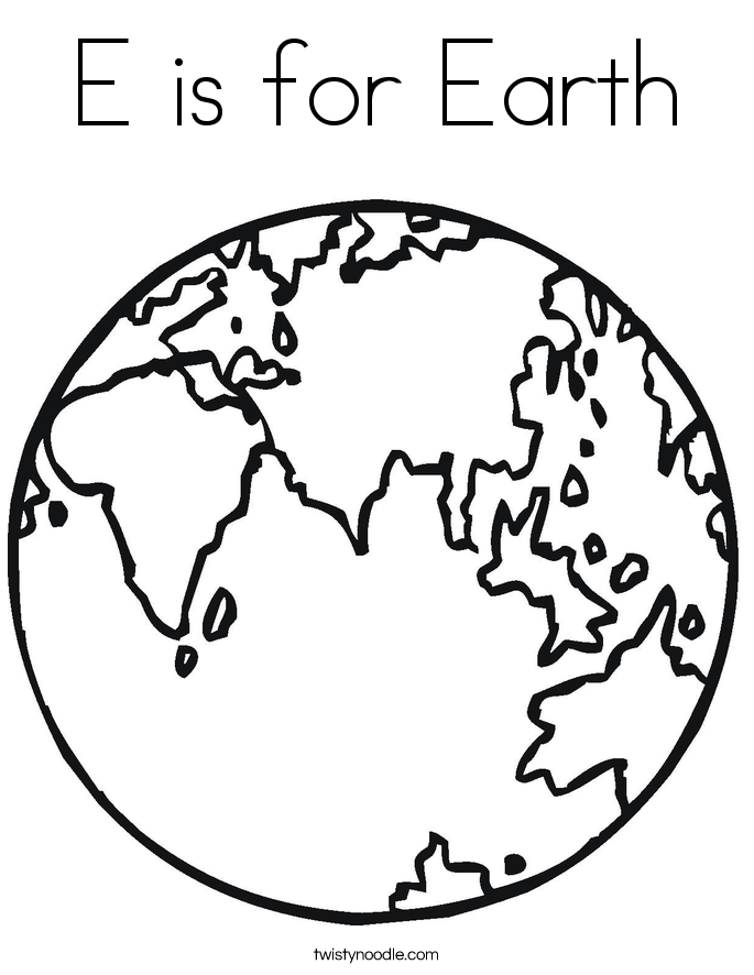 e is for earth coloring page alphabet coloring pages free e for earth earth coloring page e earth coloring for is