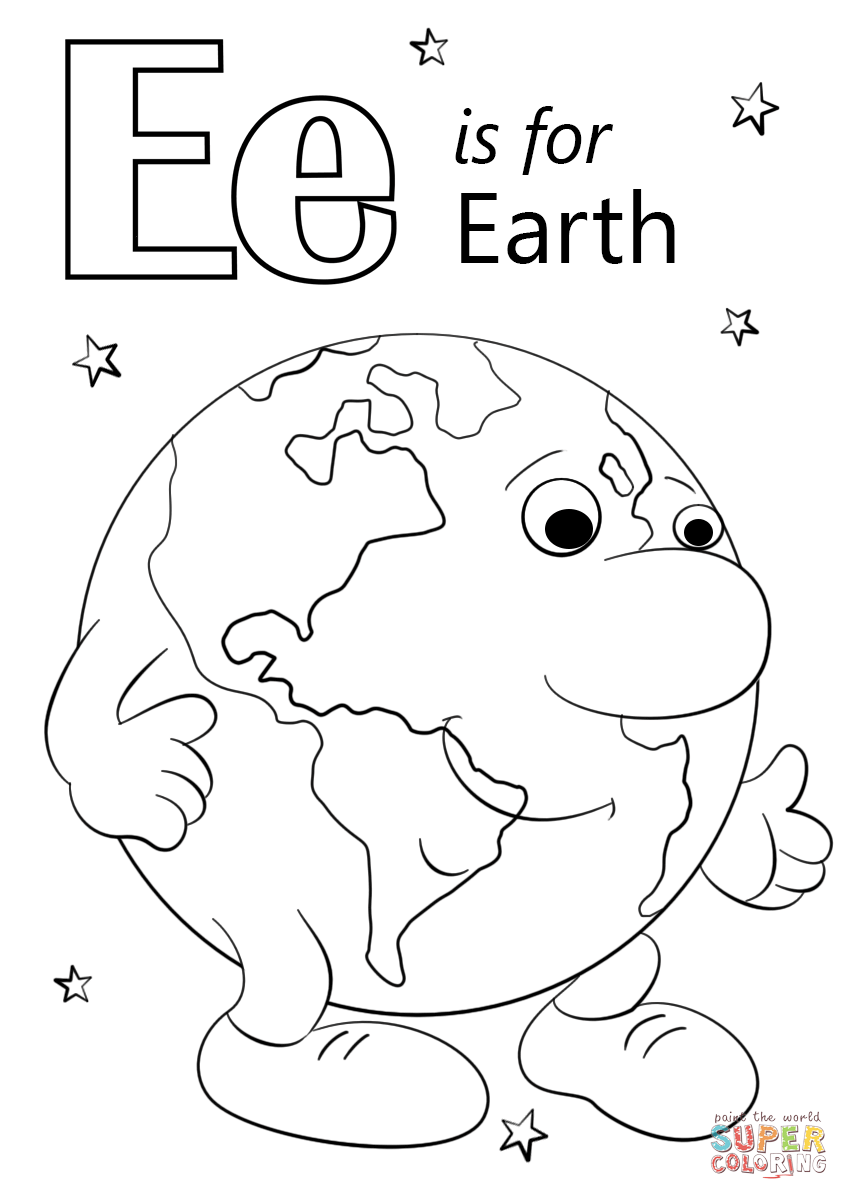 e is for earth coloring page e is for earth coloring page twisty noodle coloring earth for e is page