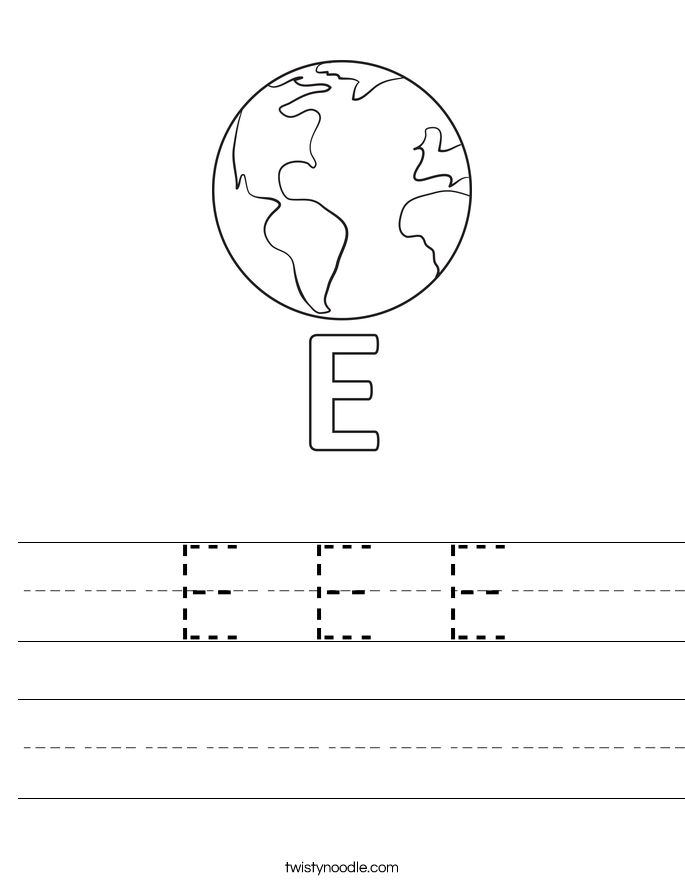 e is for earth coloring page letter e coloring page alphabet coloring earth is page for e