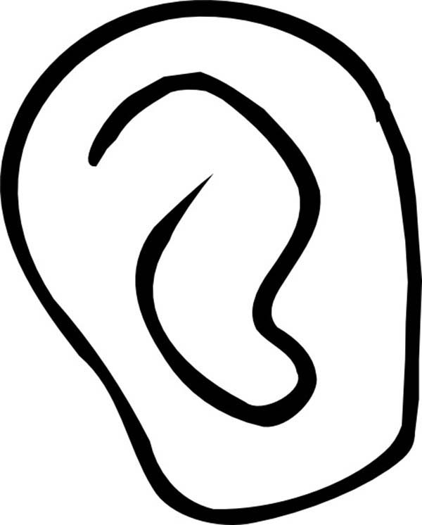 ear coloring ear catching sound coloring pages kids play color ear coloring