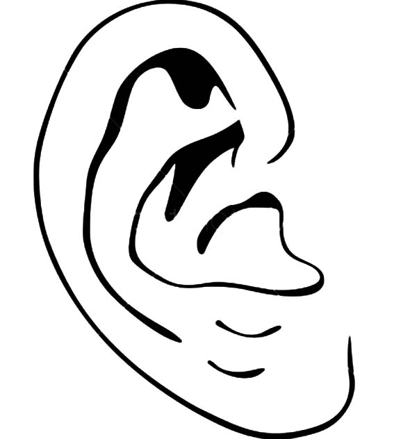 ear coloring ear coloring pages kids play color ear coloring