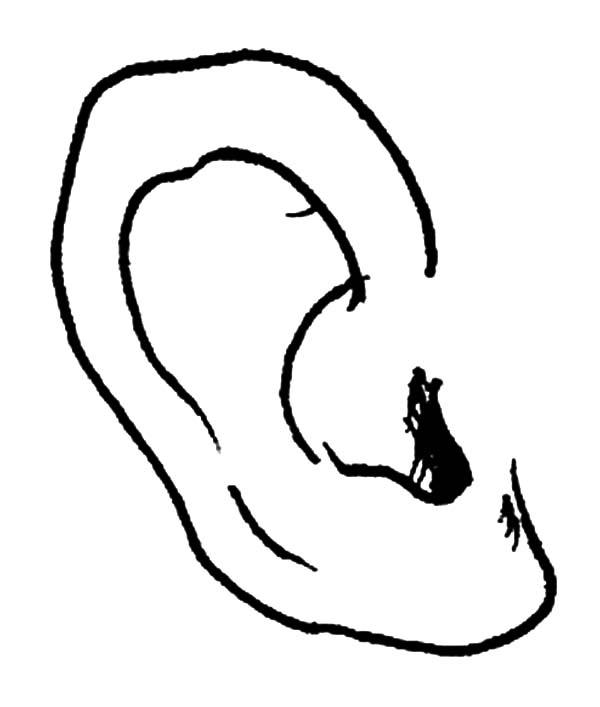 ear coloring how to draw ear coloring pages kids play color coloring ear