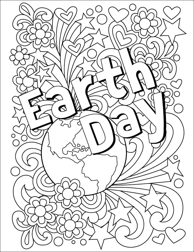 earth day coloring pages free printable coloring page earth day cratekids blog pages coloring earth day