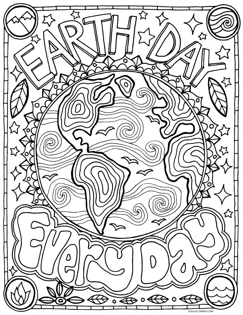 earth day coloring pages printable earth day coloring pages for kids day pages earth coloring
