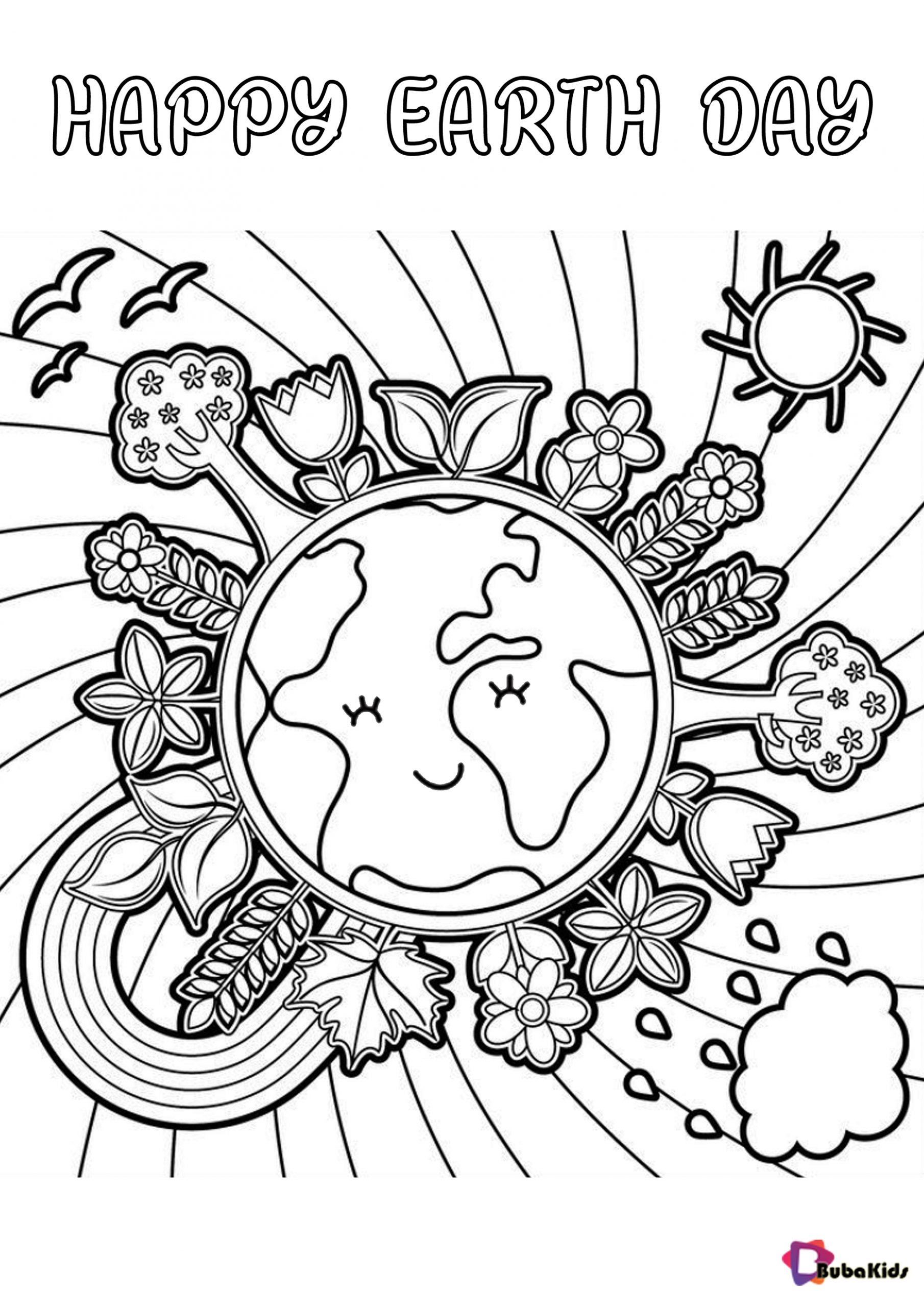earth day coloring pictures free download happy earth day coloring sheet bubakidscom pictures earth coloring day