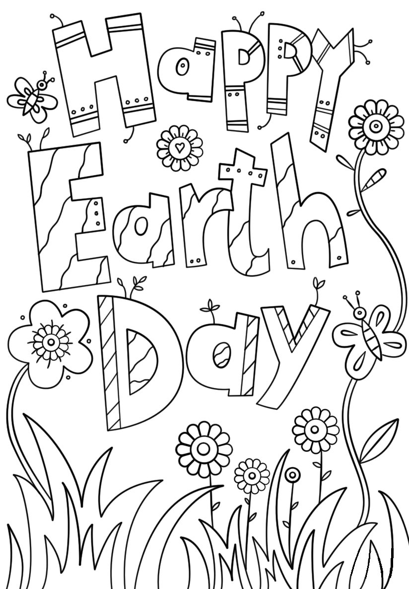 earth day coloring pictures happy earth day coloring page free printable coloring pictures coloring earth day