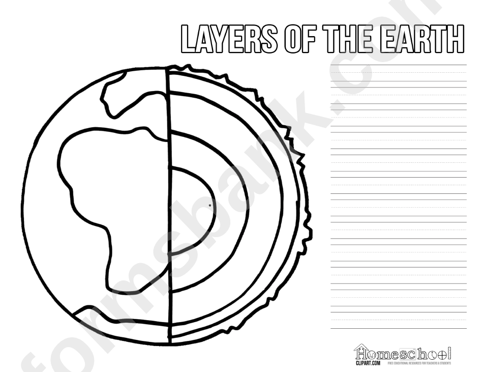 earth layers coloring layers of the earth coloring sheet printable pdf download earth layers coloring