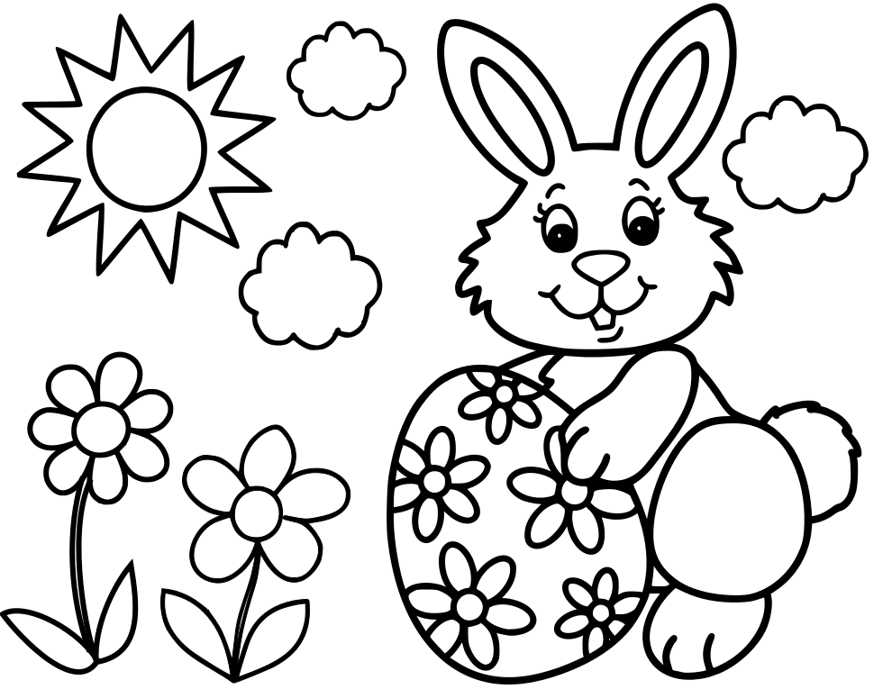 easter bunny coloring pictures easter bunny eggs hearts coloring pages printable for kids coloring easter bunny pictures