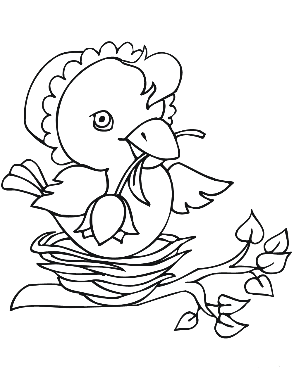 easter chick colouring cute easter chick coloring page easter template chick colouring easter