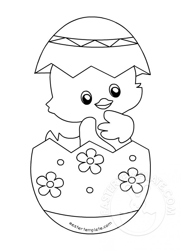 easter chick colouring cute happy easter chick coloring page chick colouring easter