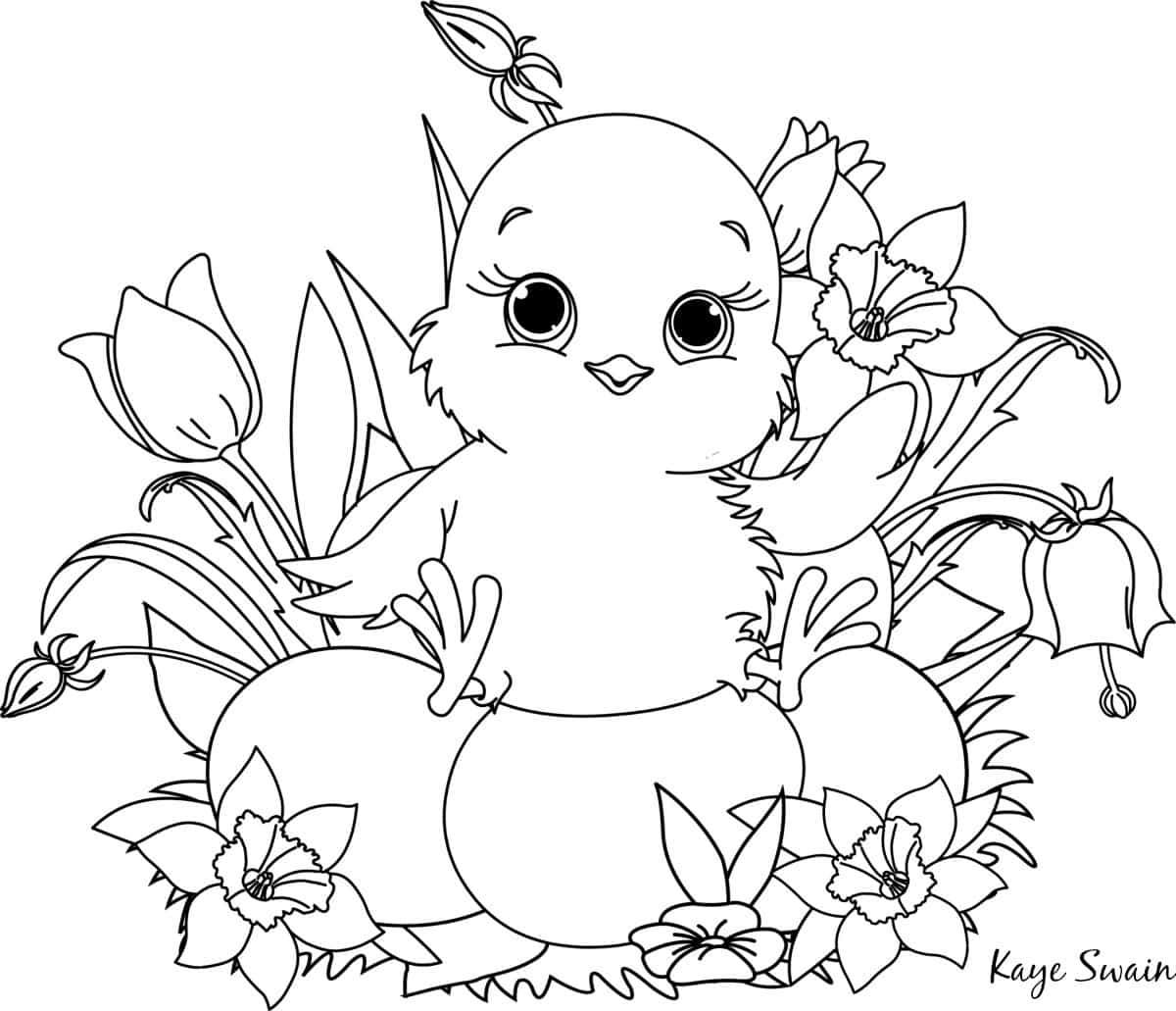 easter chick colouring easter cute chick coloring page easter chick colouring